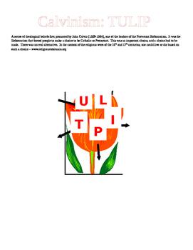 Calvinism - TULIP graphic organizer for notes