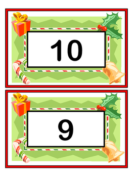 """Count to Christmas!"" - Count Down 10-1 with a Group Game, Craft, and Song"