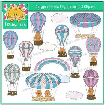 Calypso Kitten Sky Stories CU Clipart