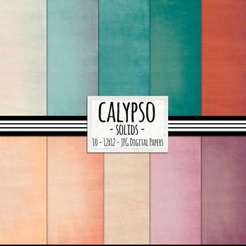 Calypso Solid Digital Papers, Lightly Textured Card Stock