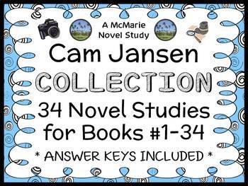 Cam Jansen COLLECTION (David A. Adler) 34 Novel Studies/ Comprehension (786 pgs)