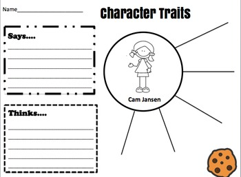 Cam Jansen Character Map Graphic Organizer