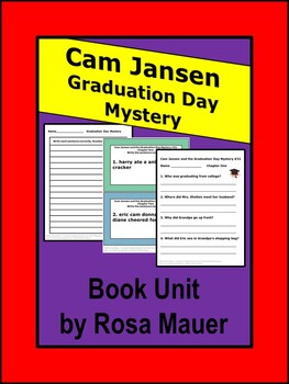 Cam Jansen Graduation Day Mystery Book Unit