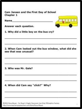 Cam Jansen Literacy Unit Bundle