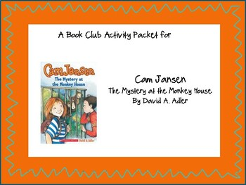 Cam Jansen Mystery at the Monkey House Book Club Activity Pack