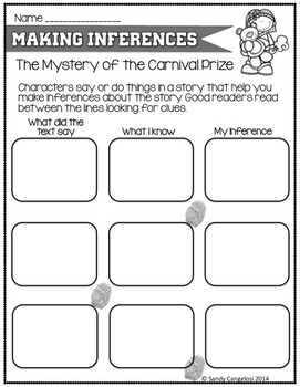 Cam Jansen: Mystery of the Carnival Prize - Inferencing