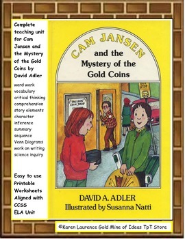 Cam Jansen Mystery of the Gold Coins Reading Novel ELA Study Guide CCSS
