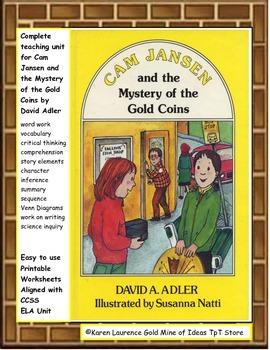 Cam Jansen Mystery of the Gold Coins Reading Novel ELA Stu