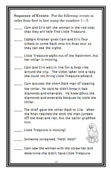 Cam Jansen: The Barking Treasure Mystery (Adler) Novel Study / Comprehension