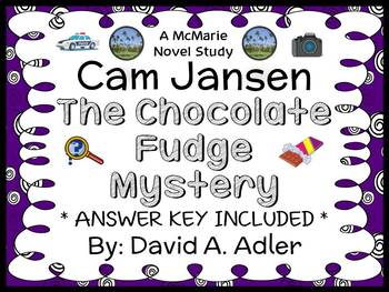 Cam Jansen: The Chocolate Fudge Mystery (Adler) Novel Study / Comprehension