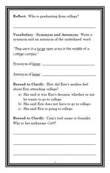 Cam Jansen: The Graduation Day Mystery (Adler) Novel Study / Compehension