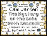 Cam Jansen: The Mystery of the Babe Ruth Baseball (David A. Adler) Novel Study