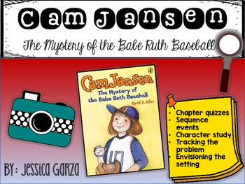 Cam Jansen The Mystery of the Babe Ruth Baseball NOVEL STUDY
