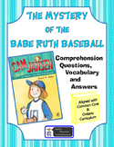 Cam Jansen The Mystery of the Babe Ruth Baseball comprehension questions