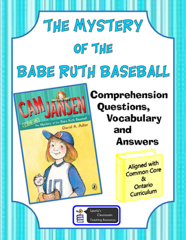 Cam Jansen The Mystery of the Babe Ruth Baseball comprehen