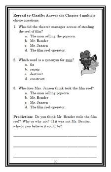 Cam Jansen: The Mystery of the Monster Movie (David A. Adler) Novel Study
