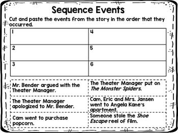 Cam Jansen The Mystery of the Monster Movie NOVEL STUDY