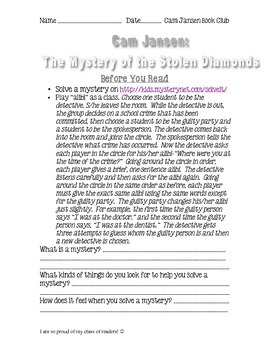 Cam Jansen The Mystery of the Stolen Diamonds Book Club