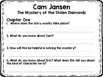 Cam Jansen The Mystery of the Stolen Diamonds NOVEL STUDY