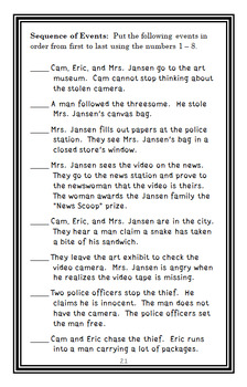 Cam Jansen: The Scary Snake Mystery (David A. Adler) Novel Study / Comprehension