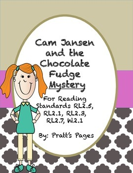Cam Jansen and the Chocolate Fudge Mystery Reading Response Journal