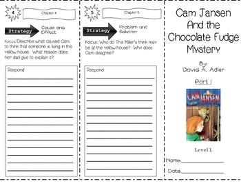 Cam Jansen and the Chocolate Fudge Mystery TWO-PART Trifold