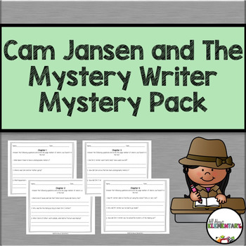 Cam Jansen and the Mystery Writer Mystery Comprehension Pack