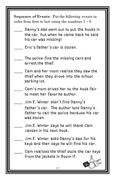 Cam Jansen and the Mystery Writer Mystery (David A. Adler) Novel Study