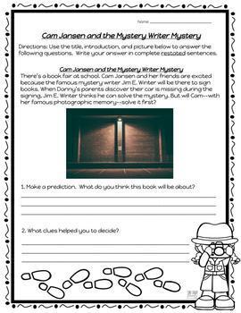 Cam Jansen and the Mystery Writer Mystery Novel Study