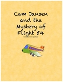 Cam Jansen and the Mystery of Flight 54 comprehension questions
