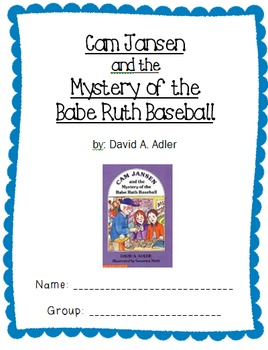 Cam Jansen and the Mystery of the Babe Ruth Baseball Comprehension Packet