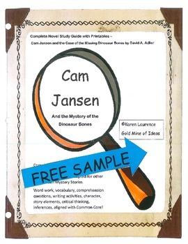 Cam Jansen and the Mystery of the Dinosaur Bones  Novel Gu