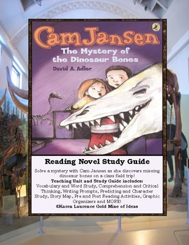 Cam Jansen and the Mystery of the Dinosaur Bones Novel Reading Study Guide