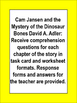 Cam Jansen and the Mystery of the Dinosaur Bones Comprehension Literacy Unit