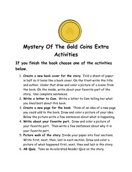 Cam Jansen and the Mystery of the Gold Coins Comprehension Packet