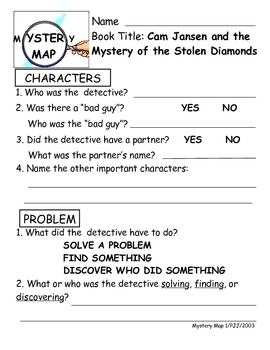 Cam Jansen and the Mystery of the Stolen Diamonds Literature Unit