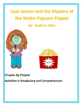 Cam Jansen and the Mystery of the Stolen Popcorn Popper Activities