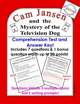Cam Jansen and the Mystery of the Television Dog Test & Answer Key