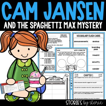 Cam Jansen and the Spaghetti Max Mystery Book Questions & Vocabulary