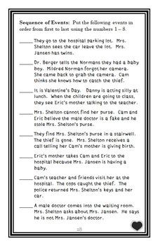 Cam Jansen and the Valentine Baby Mystery (David A. Adler) Novel Study