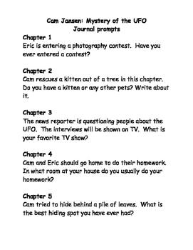 Cam Jansen comprehension questions Bundle #1