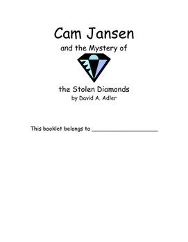 Cam Jansen & the Stolen Diamonds by David A. Adler Novel Study
