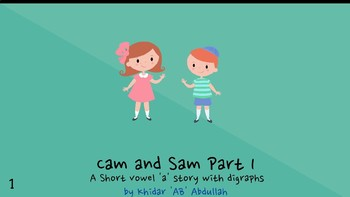 Cam & Sam Part 1: Short Vowel 'a' Story with Digraphs and Sight Words
