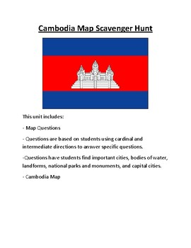 Cambodia Map Scavenger Hunt