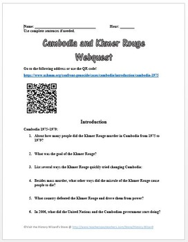 Cambodia and Khmer Rouge Webquest