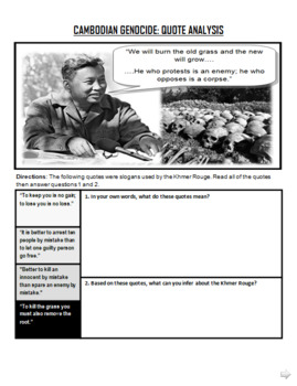 Cambodian Genocide Lesson