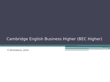 Cambridge English Business Higher (BEC Higher)