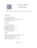 Cambridge First Certificate (FCE B2 First) Writing Checklist