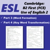 Cambridge First Certificate: Word formation & Key word transformation [2]