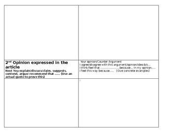 Cambridge IGCSE English Exam Essay and Portfolio- 5 Graphic Organizers